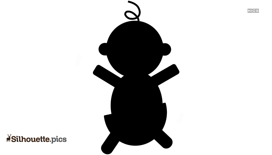 Black And White Stretch Arms Cartoon Silhouette