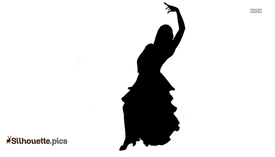 Black And White Traditional Paso Doble Silhouette