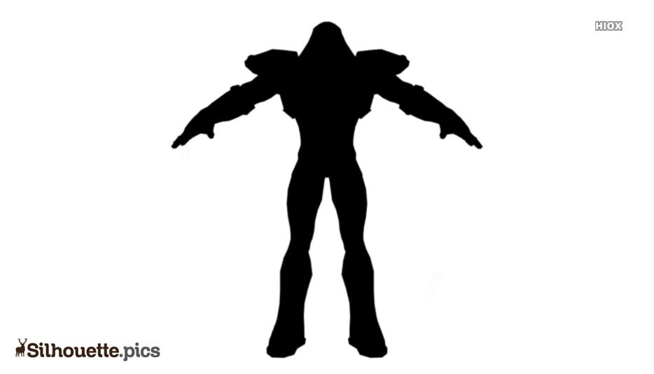 Black Brainiac Silhouette Image