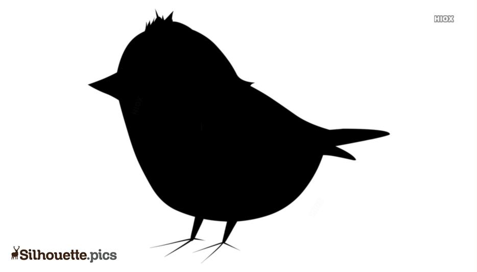 Black Cartoon Bird Silhouette Image