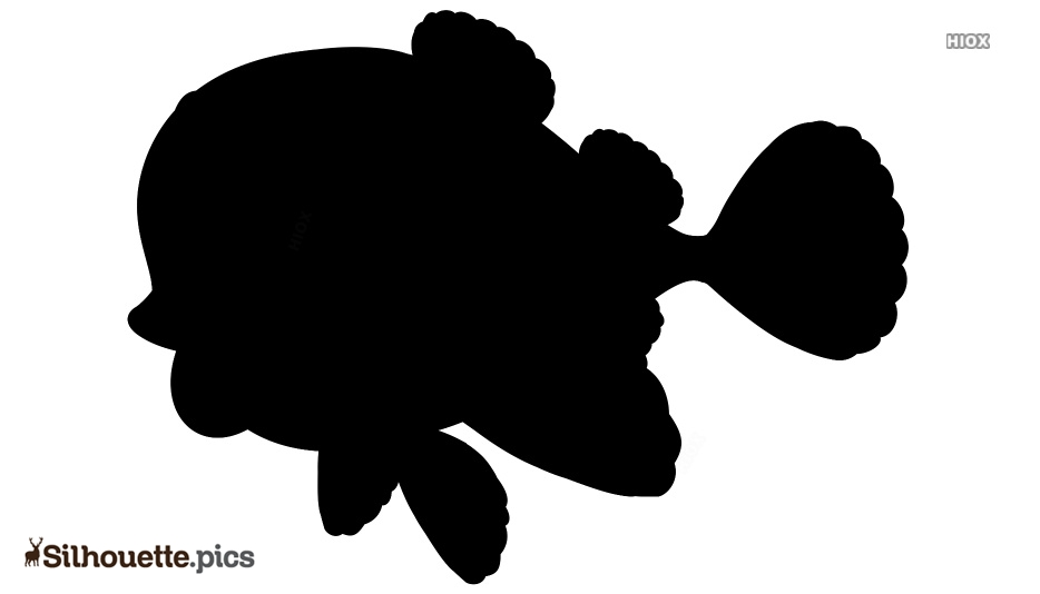 Black Cartoon Fish Silhouette Clipart Image