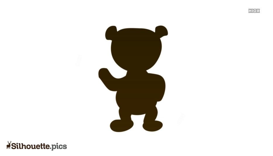 Black Crazy Bear Cartoon Silhouette Image