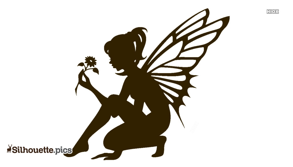 Black Cute Fairy Silhouette Image