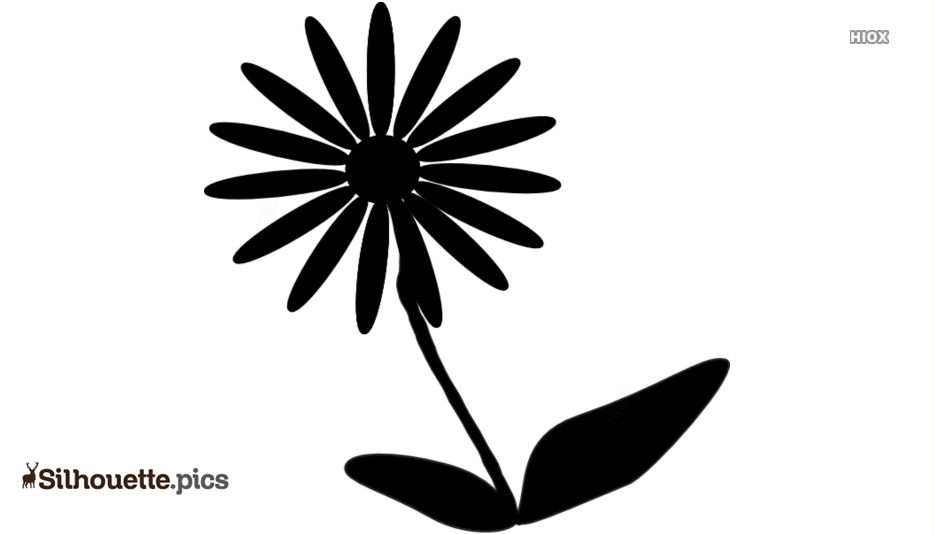 Black Funeral Flower Silhouette Image Free Download