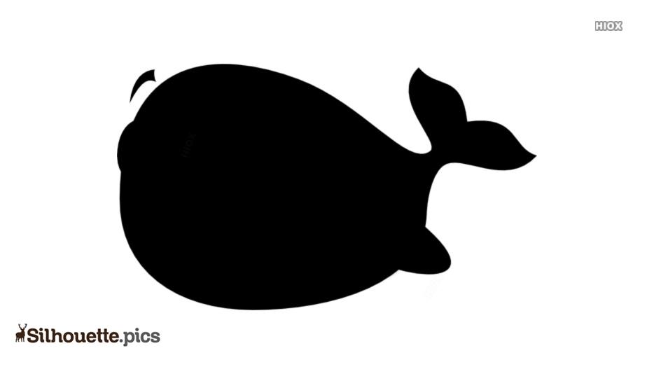 Black Funny Fish Silhouette Image