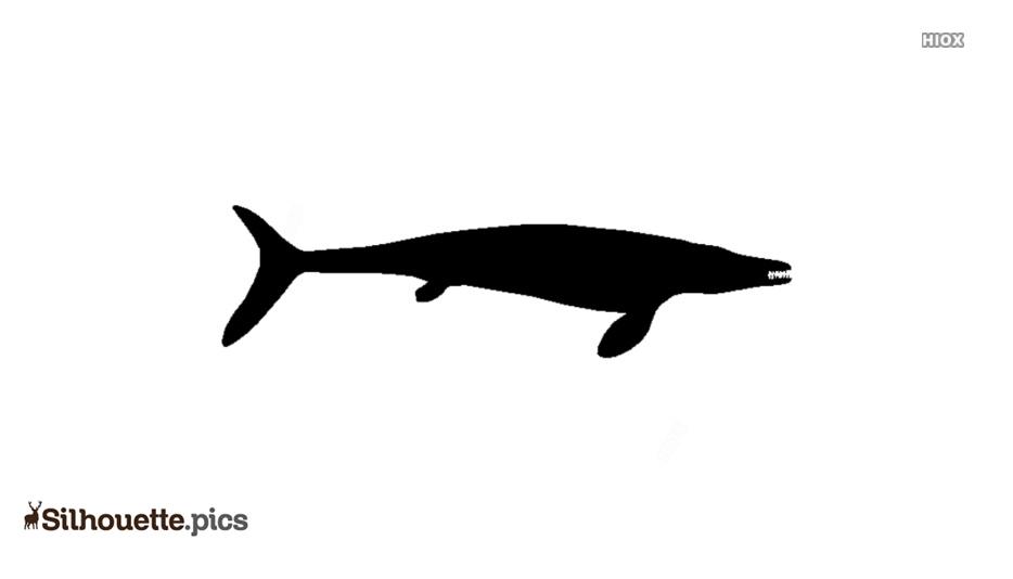 Black Halisaurus Silhouette Image