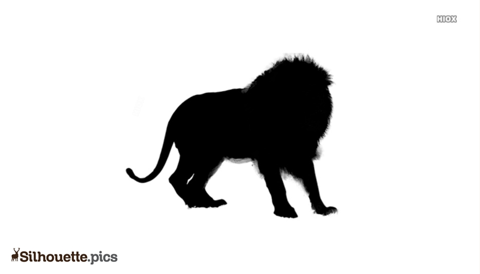 Black Indian Lion Silhouette Image