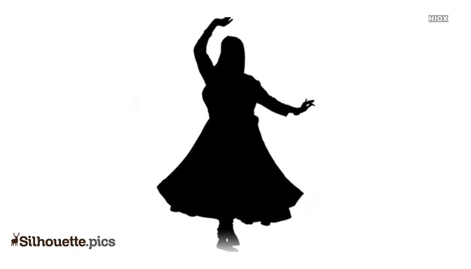 Black Kathak Dance Silhouette Image Silhouette Pics
