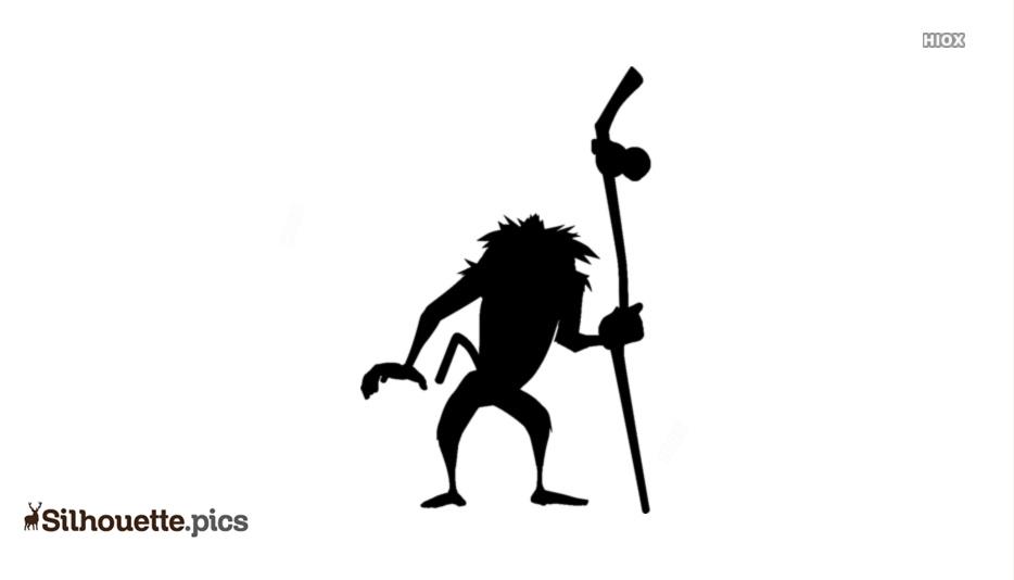 Black Lion King Monkey Silhouette Image
