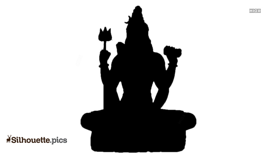 Black Lord Shiva Silhouette Image