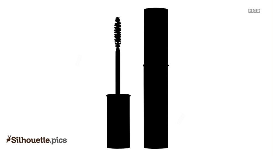 Black Makeup Mascara Silhouette