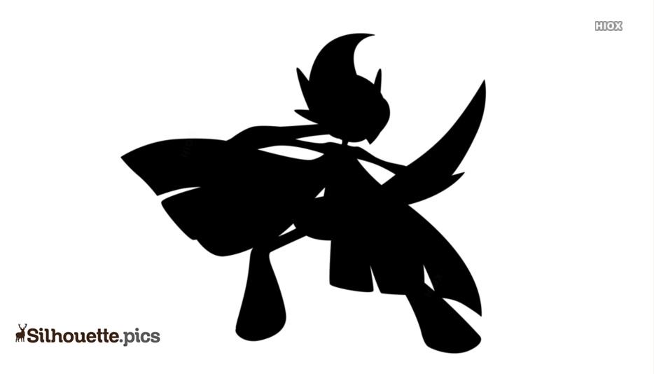 Black Mega Alakazam Silhouette Image