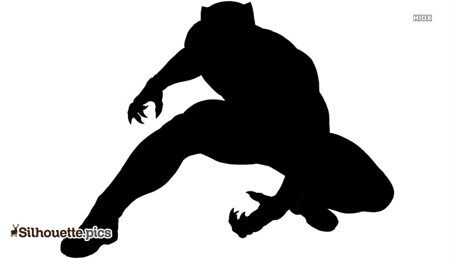 Black Panther Superhero Silhouette Vector And Graphics