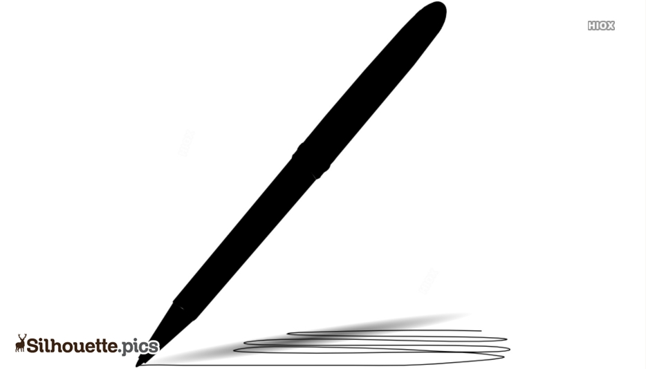 Black Scribble Pen Silhouette Image