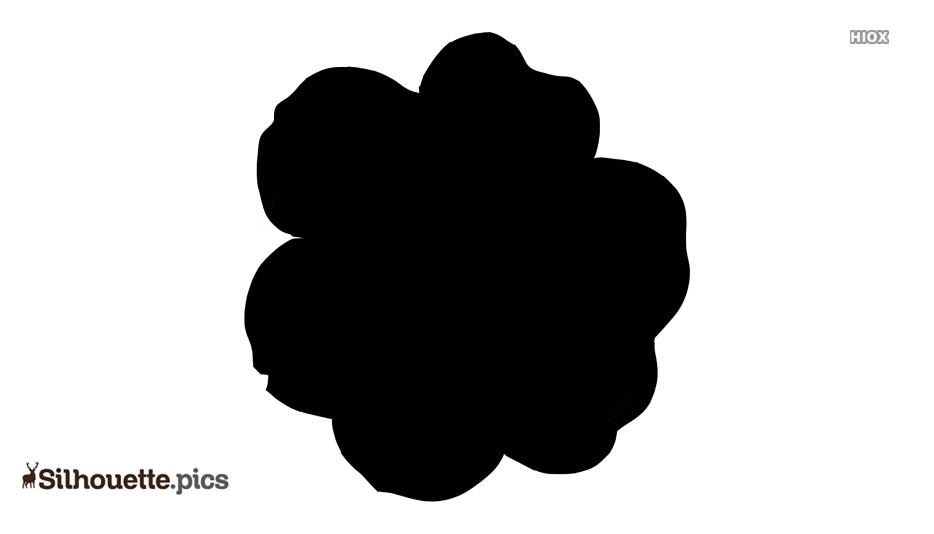 Six Petal Flower Silhouette Images