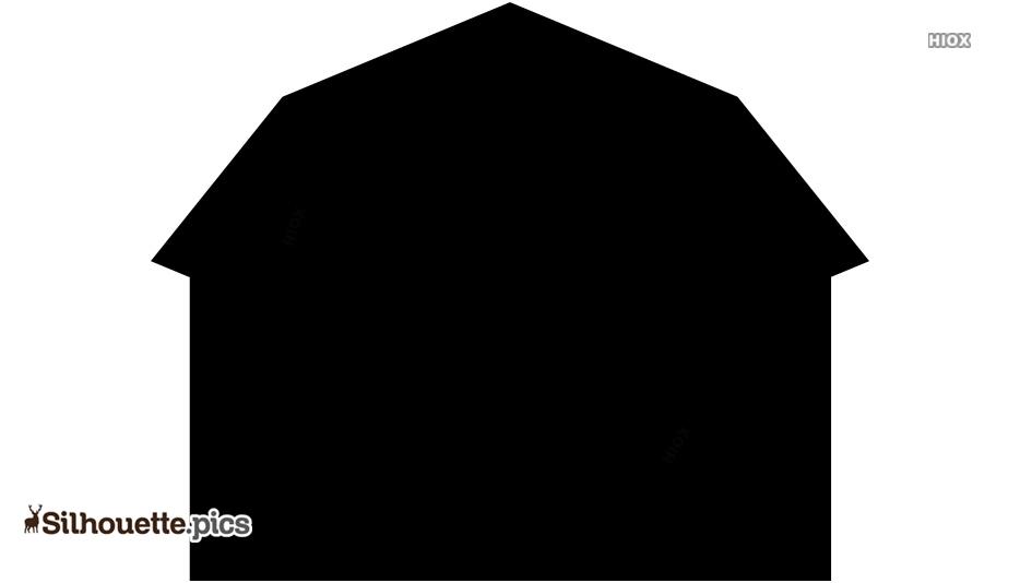 Black Small Hut Silhouette Image