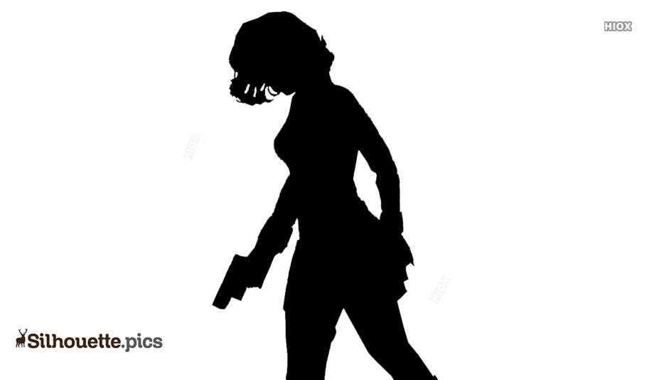 Widow With Gun Silhouette Image