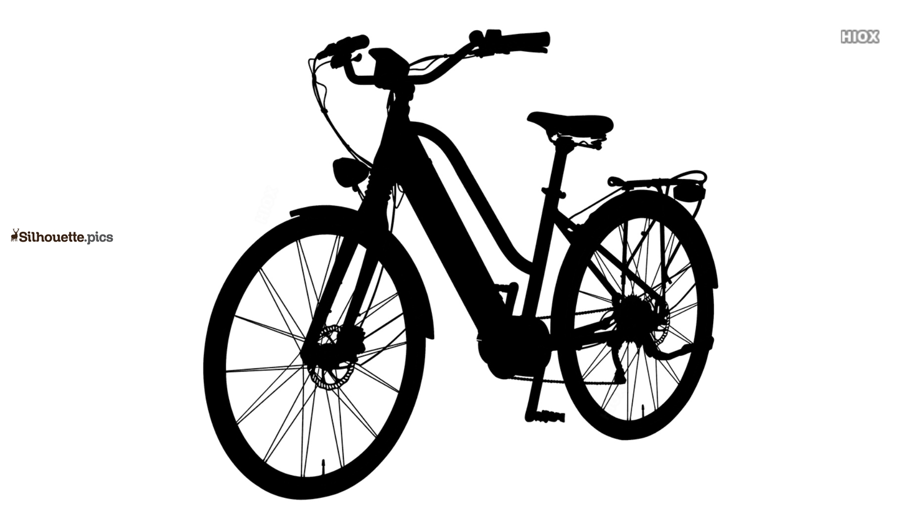 Black Woman Bicycle Silhouette Background