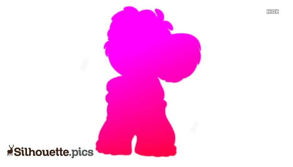 Blinky Mischievous Cartoon Silhouette
