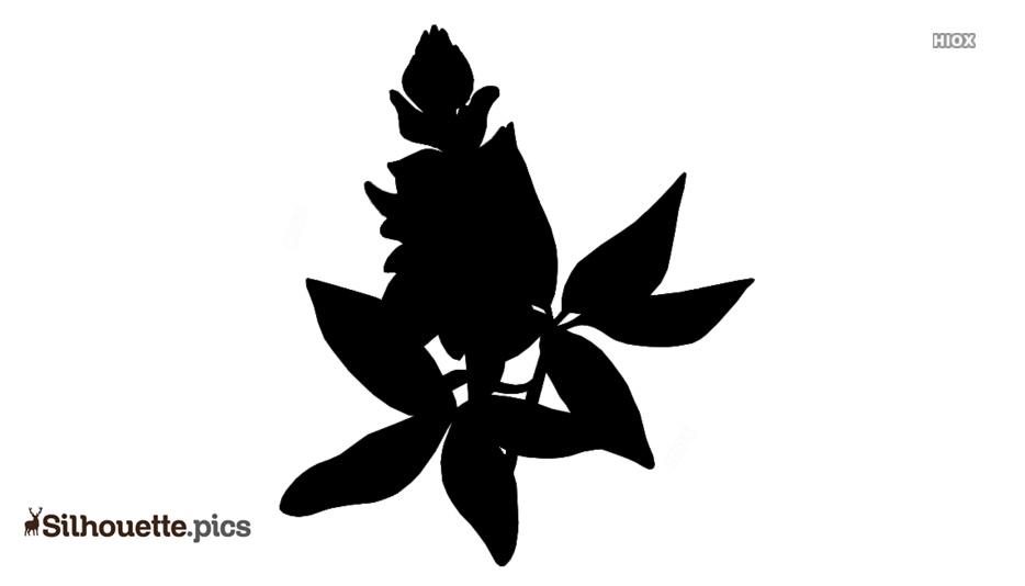 Bluebonnet Flower Silhouette Clip Art