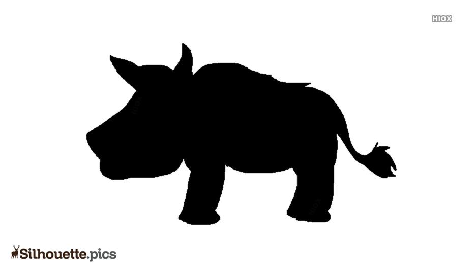 Boar Warrior Symbol Silhouette