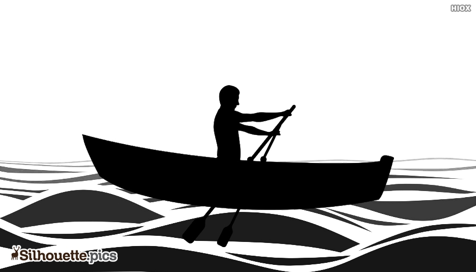 Silhouette Of Boat In Water Body