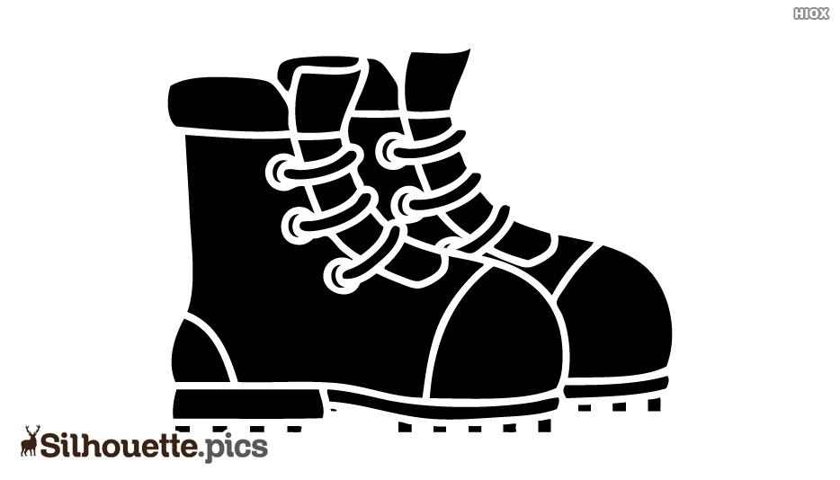 Shoes, Footwear Silhouette Images, Vectors
