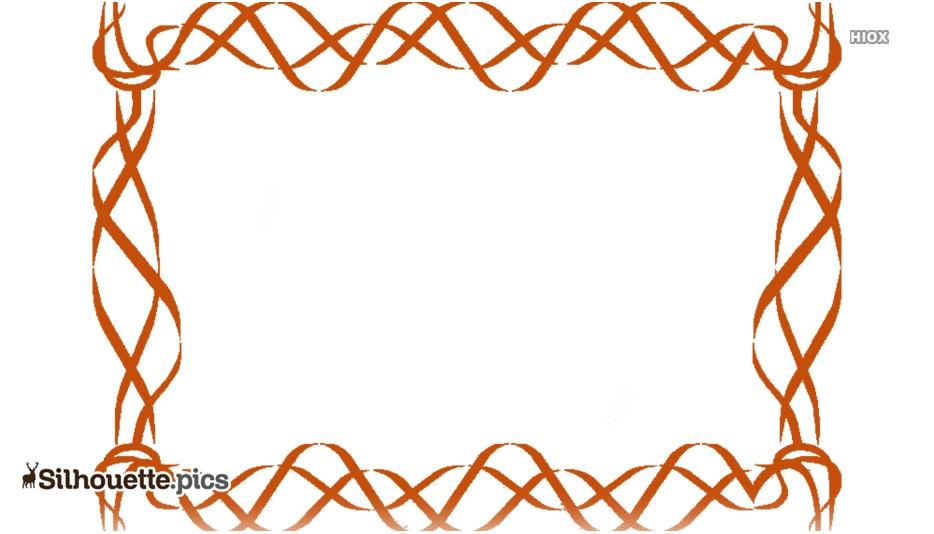 Border Design Clipart Vector Silhouette Image