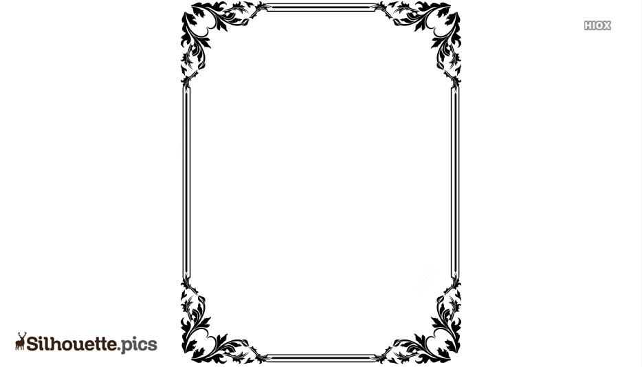 Border Design Silhouette Images