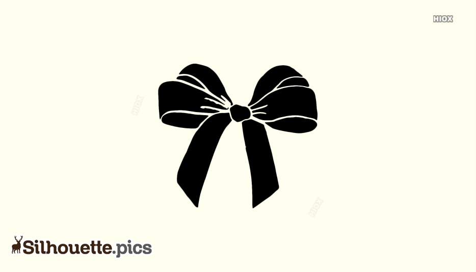 Bow Tie Silhouette Vector