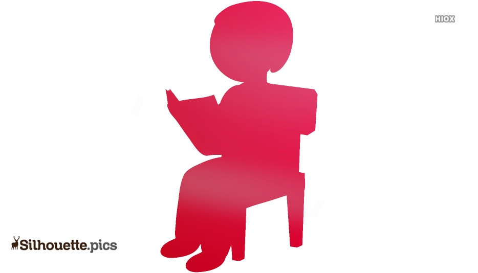 Boy Sitting On Chair Reading Silhouette