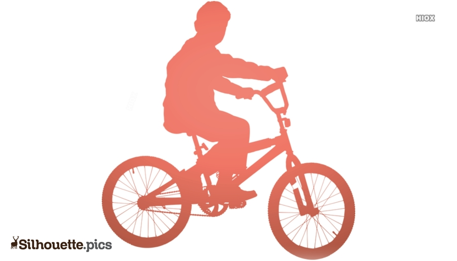 Boy With Bicycle Silhouette