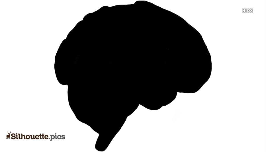 Brain Vector Silhouette