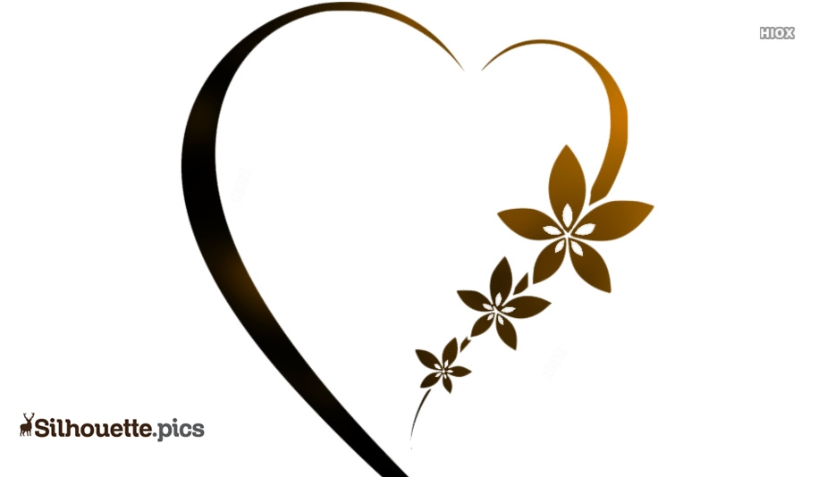 Bride And Groom Hearts Silhouette Clip Art