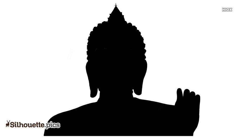 Buddha Black Silhouette