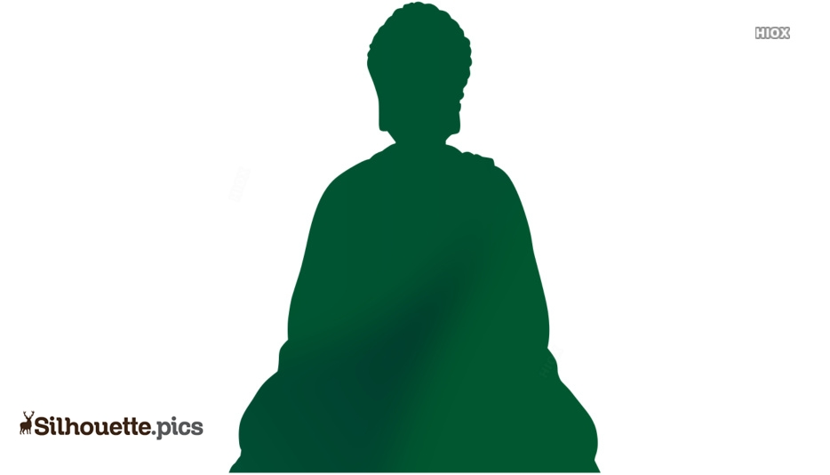 Buddha Silhouette Vector Free