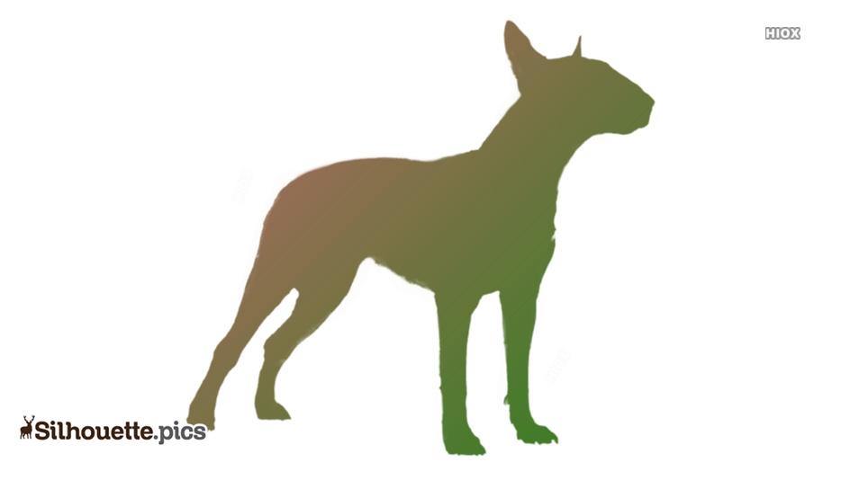 Bull Terrier Dog Breed Silhouette