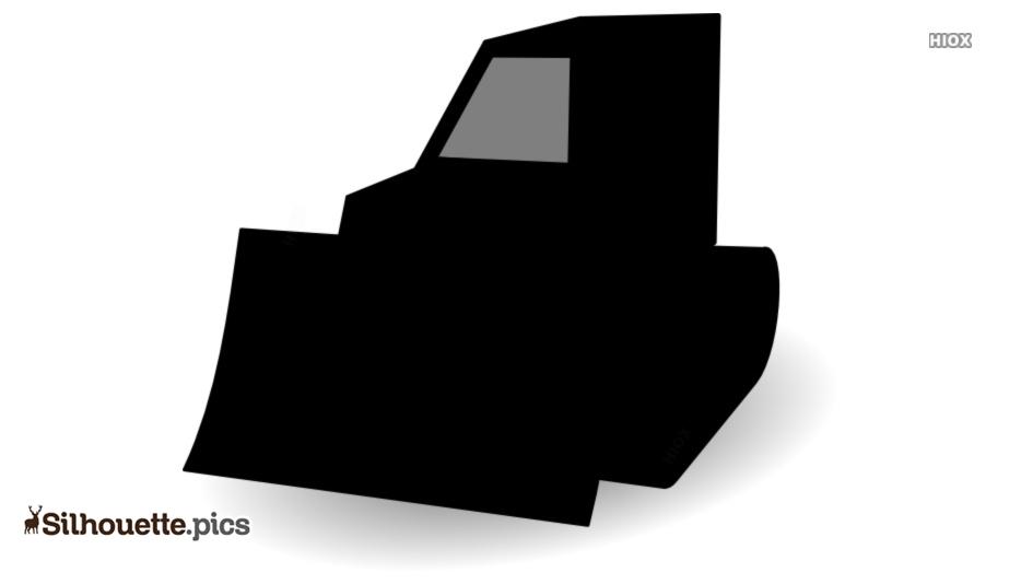 Bulldozer Silhouette Clipart