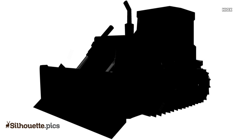 Bulldozer Silhouette Vector Graphics