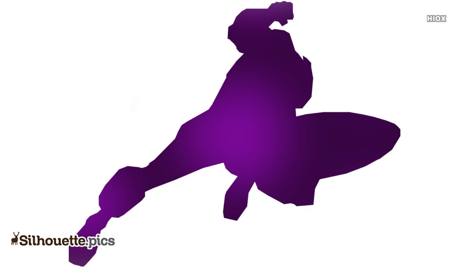 Captain America With Shield Silhouette