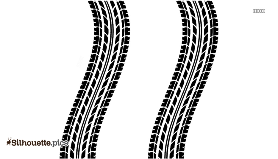 Tire Tracks Silhouette Images