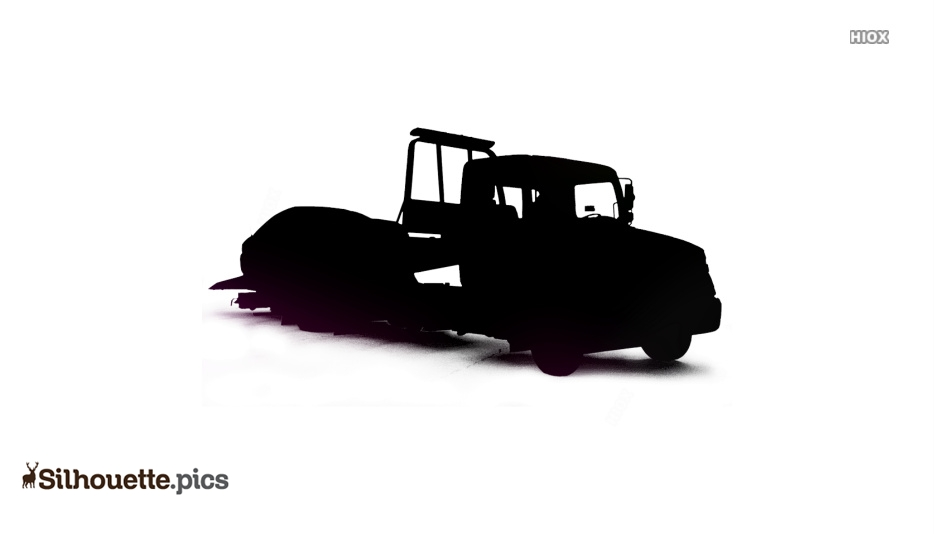 Car Tow Truck Silhouette Free Vector Art