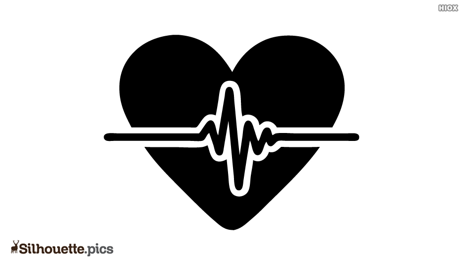 Cardiology Silhouette Icon Vector Image