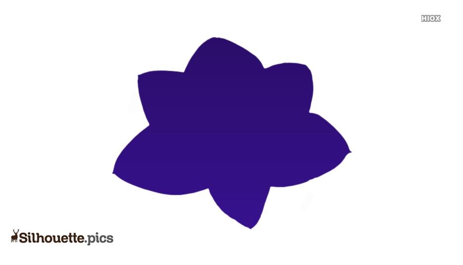 Cartoon Amaryllis Flower Silhouette