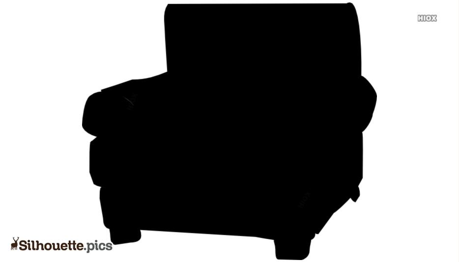 Cartoon Armchair Silhouette Illustration