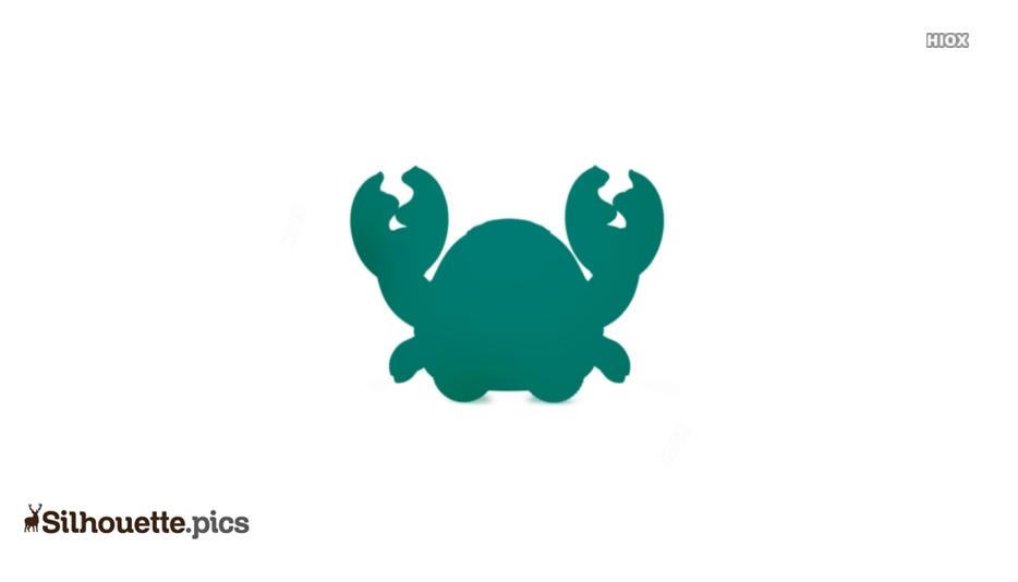 Cartoon Baby Crab Silhouette
