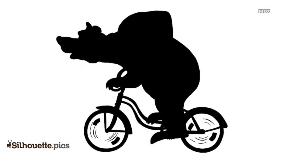 Cartoon Bear Riding Cycle