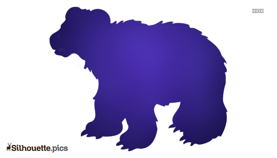 Cartoon Bear Silhouette Free Vector Art