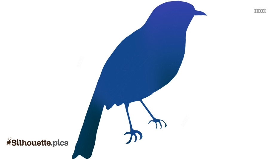 Cartoon Bird Silhouette Image, Clipart