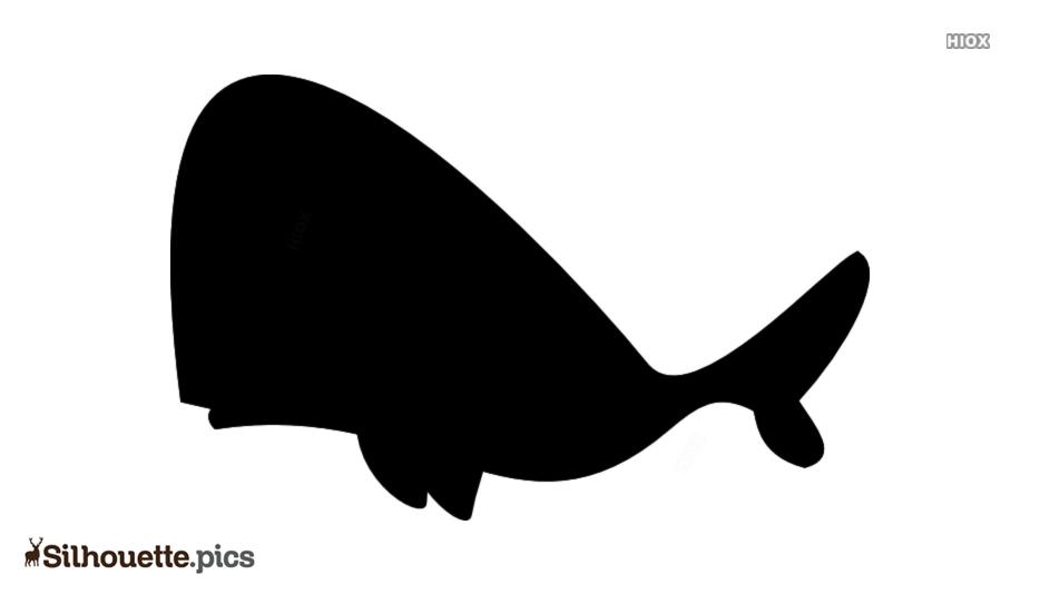 Cartoon Blue Whale Silhouette